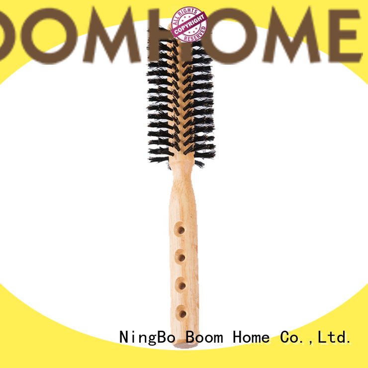 Boar Bristle Hair Brush With Natural Wooden Handle