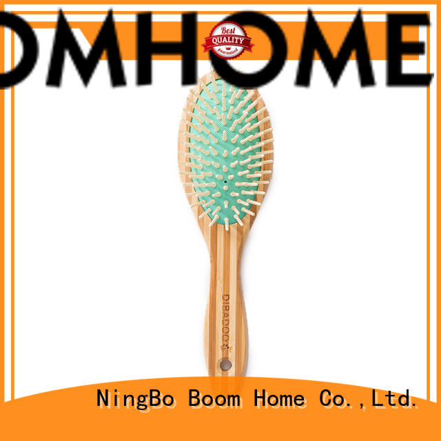 logo bamboo pin hairbrush personalized for women Boom Home