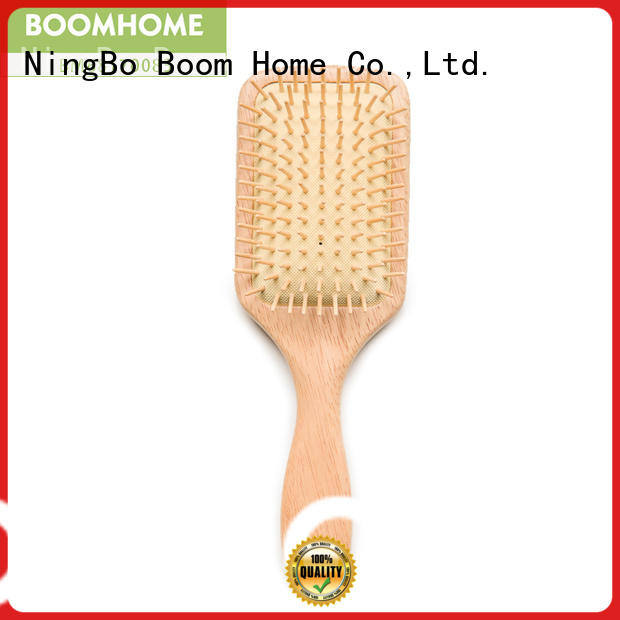 carrying wooden round hair brush straightening for travel Boom Home