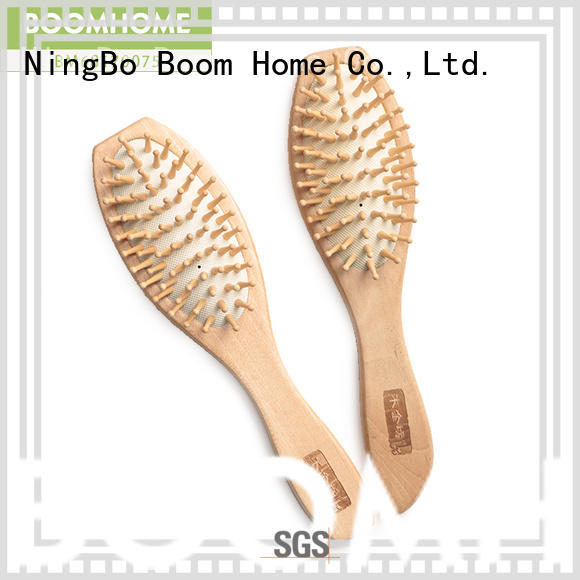 Boom Home bristle wooden hair comb inquire now for travel