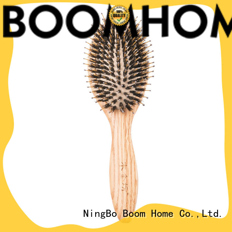 Boom Home large heavy wooden hairbrush with good price for home