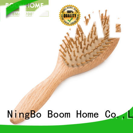 Eco-friendly Round Wooden Hair Brush For Private Label