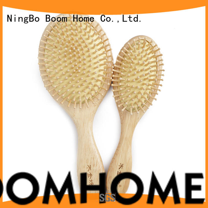 noble wooden paddle brush detangler with good price for shop
