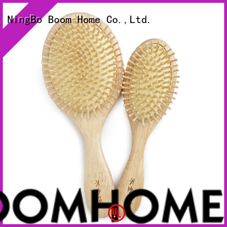 round wooden paddle hair brush brands with good price for travel