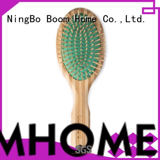 Boom Home oval bamboo bristle hair brush hairbrush for men