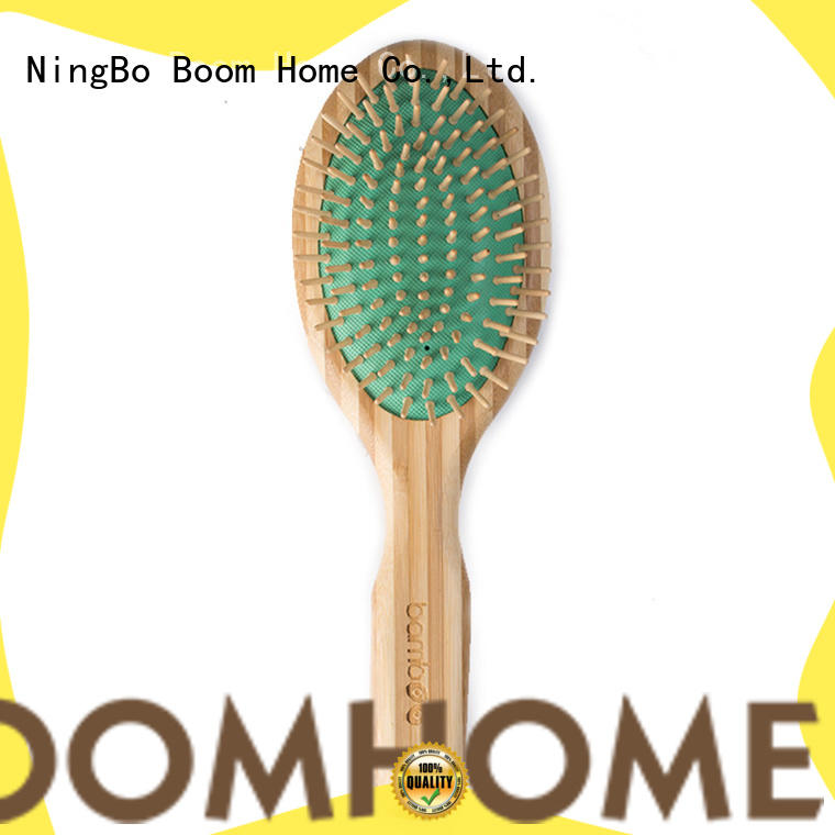 Boom Home massage bamboo hair brush factory price for women