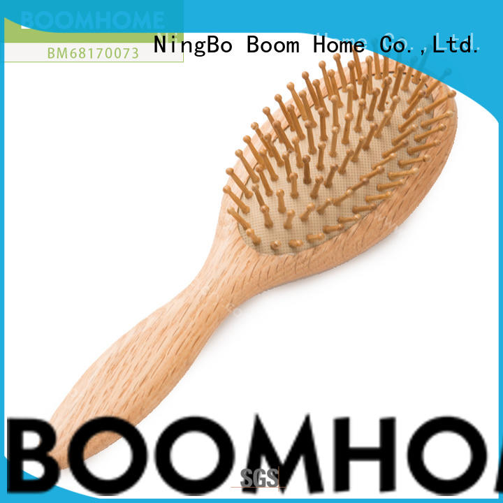 Boom Home price wooden paddle hair brush factory for hotel