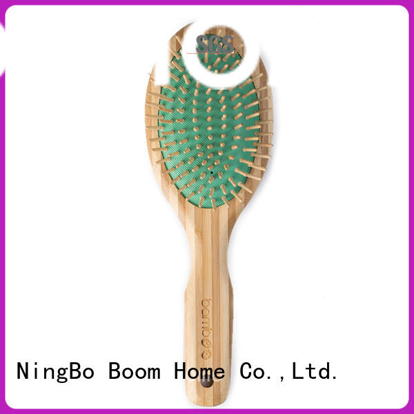 Boom Home smooth bamboo paddle brush wholesale for women