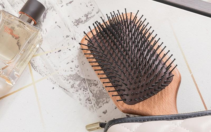 Boom Home air wooden paddle hair brush with good price for shop-1