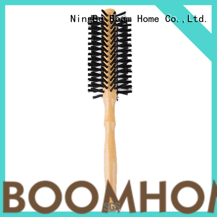 Boom Home natural boar bristle round brush wholesale for household