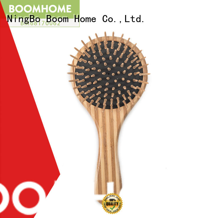 Boom Home smooth bamboo paddle brush factory price for women