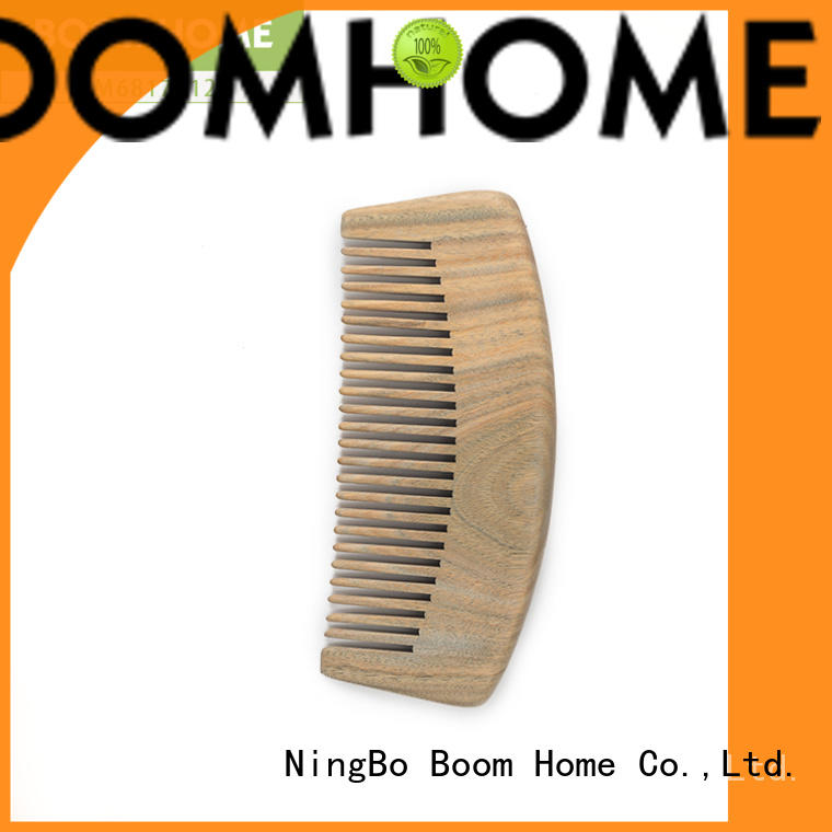 Boom Home holiday wood hair brush with good price for shop