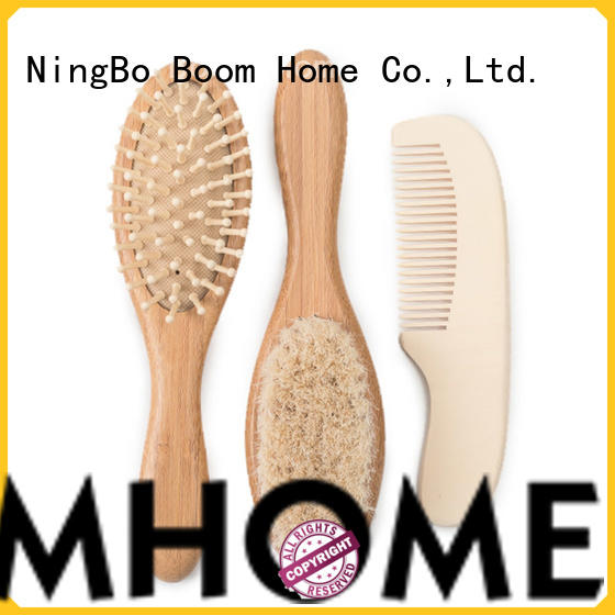 Boom Home pure baby brush and comb set customized for kids