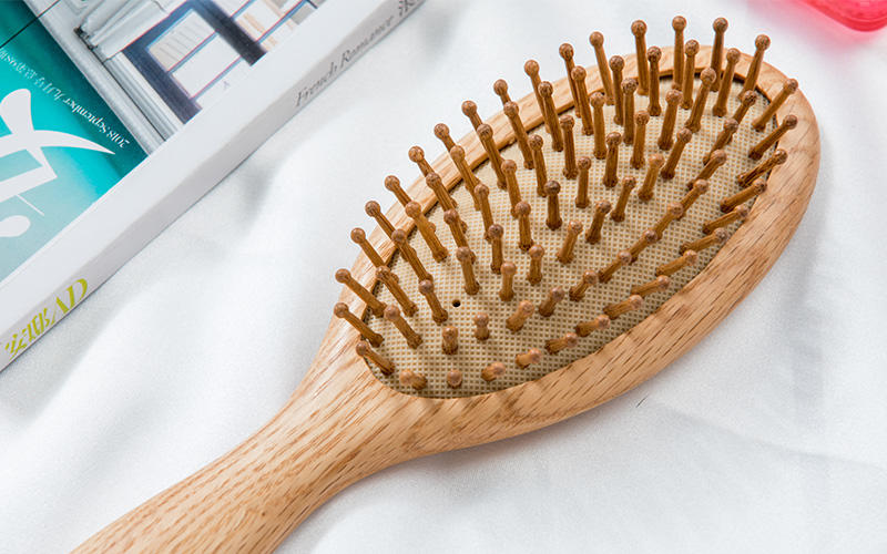 facial wooden hair brush with natural bristles design for home Boom Home-3