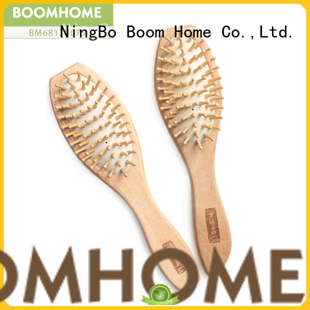 Boom Home natural wooden handle hair brush design for home