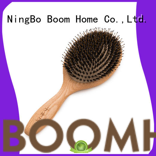 Boom Home oval bamboo bristle hair brush wholesale for men