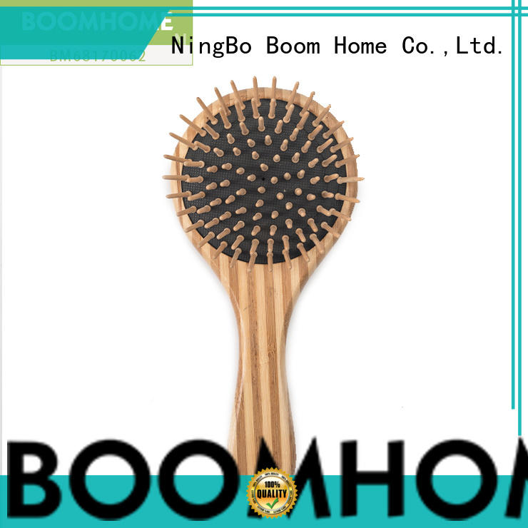 oval bamboo hair comb handle wholesale for curly hair