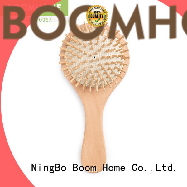 Wholesale wooden handle hair brush private supply for home