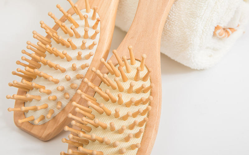 Custom wood hair brush head company for travel-3