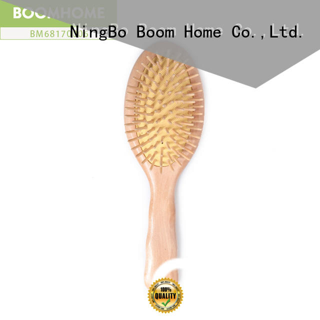 High-quality wooden handle hair brush facial factory for home