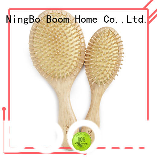round wooden hair brush bamboo factory for hotel