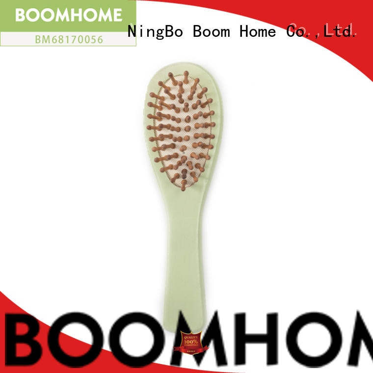 Boom Home logo wooden hair brush factory for hotel