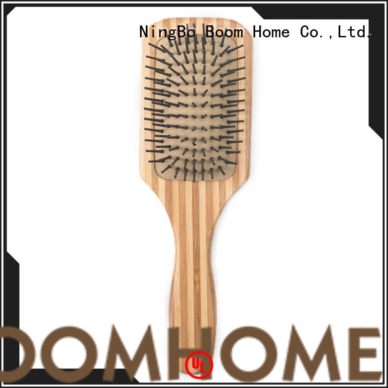Boom Home pink bamboo comb personalized for women