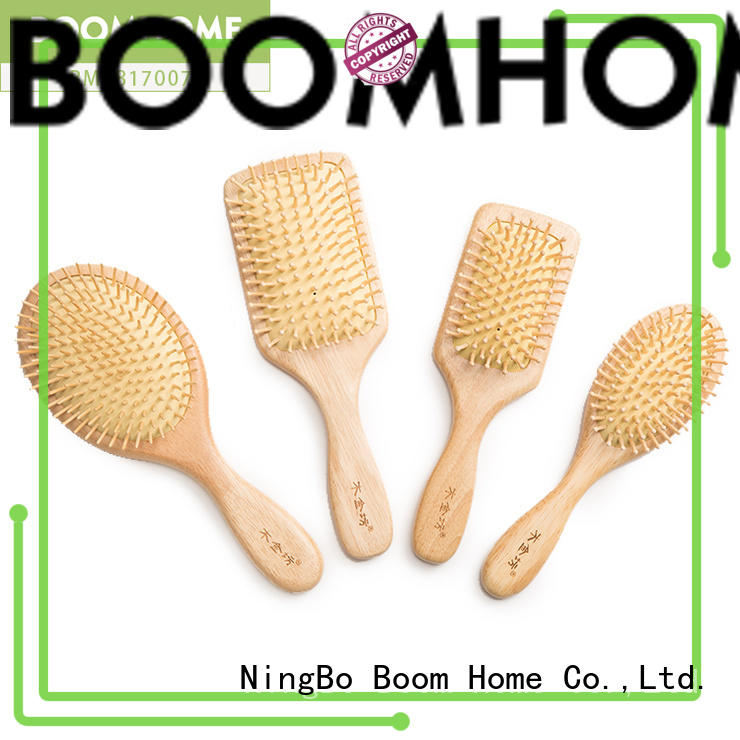 Boom Home eco-friendly orange wood hair brush factory for travel