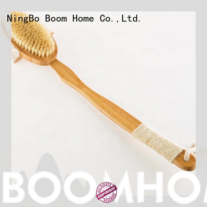 Boom Home curved body cleansing brush customized for dry skin