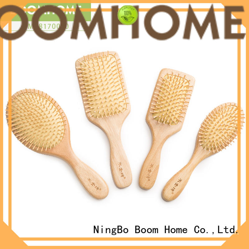 Boom Home shape wood hair brush factory for travel
