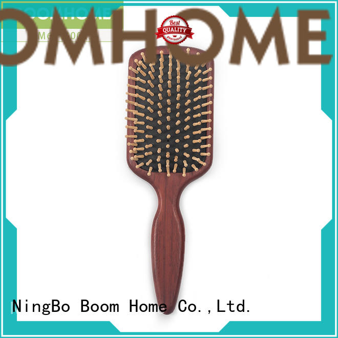 Boom Home horn wooden paddle hair brush design for home
