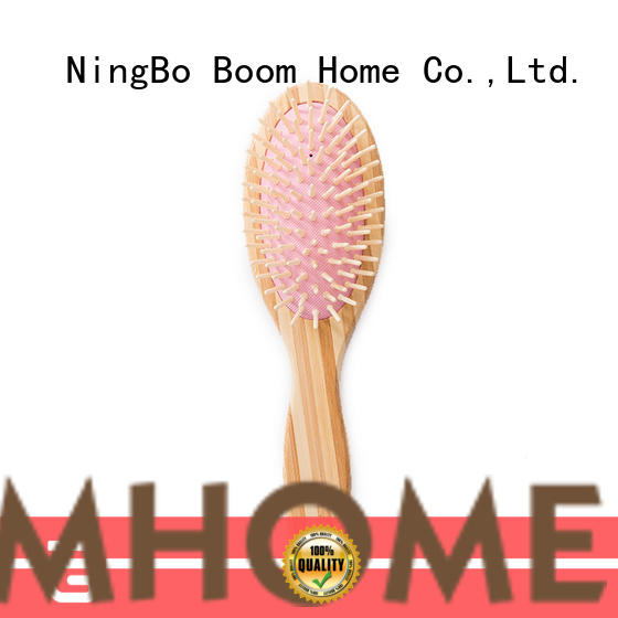 Boom Home carry bamboo paddle brush factory price for women