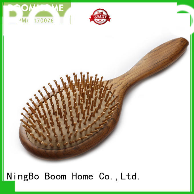 round wooden comb static with good price for travel