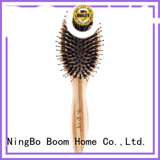 natural boar hair hairbrush personalized for hair salon