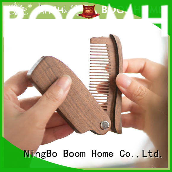 Boom Home mahogany wooden hair comb inquire now for travel