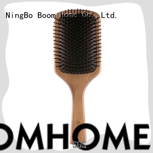 large wooden hair brush black design for travel