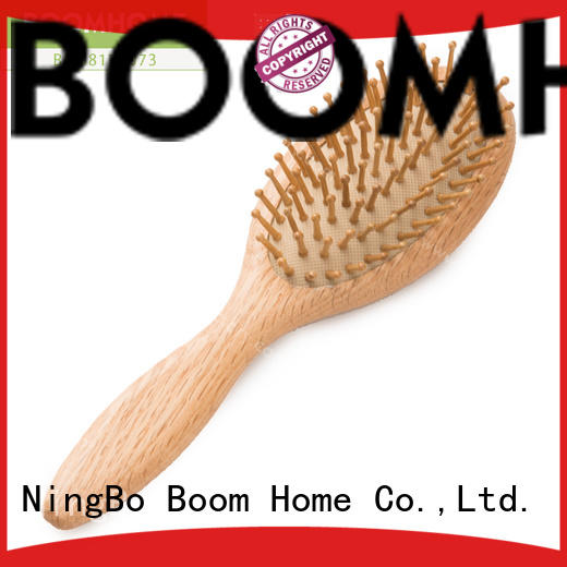 facial wooden hair brush with natural bristles design for home Boom Home