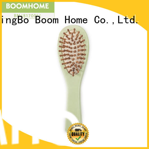 Boom Home natural wooden paddle hair brush series for shop