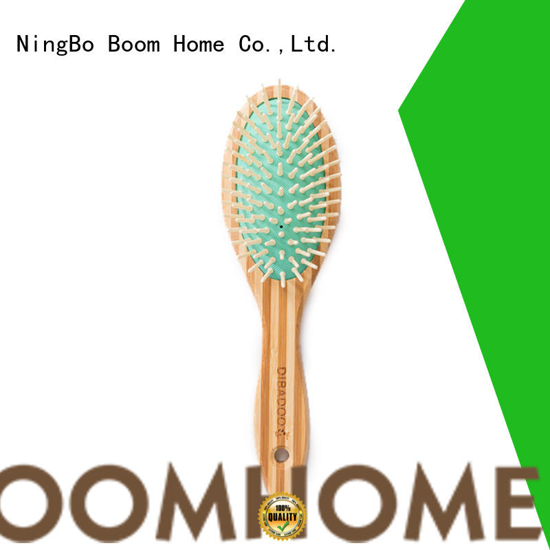Boom Home round bamboo comb supplier for men
