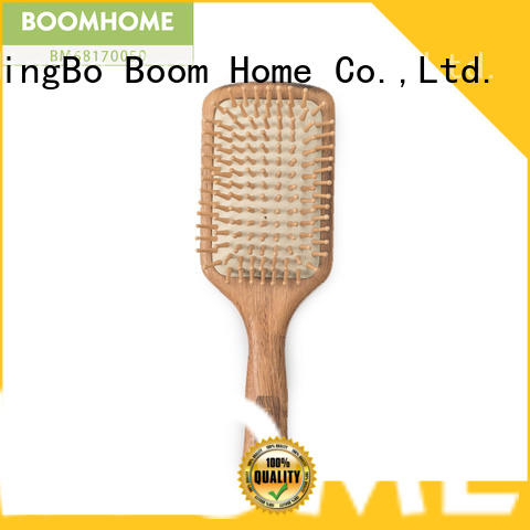 Boom Home small organic wooden hair brush design for travel