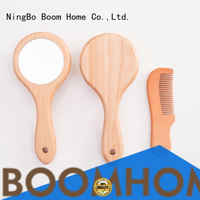 Boom Home eco-friendly baby hair brush set from China for infant