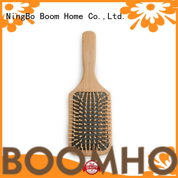 wooden boar bristle hair brush style for travel Boom Home