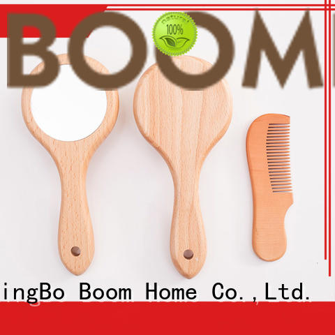 Boom Home natural childrens hair brush customized for household