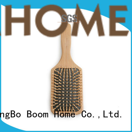 Boom Home round wood hair brush factory for travel
