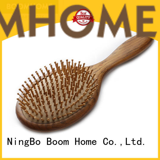 Boom Home natural hair brush with wooden handle factory for shop