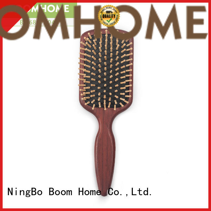 Boom Home round orange wood hair brush factory for shop