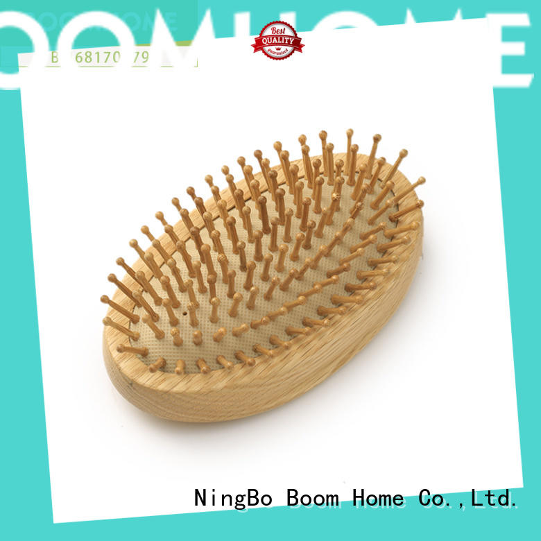Boom Home pins wooden paddle hair brush design for home
