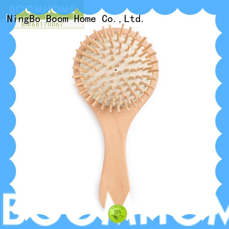 eco-friendly orange wood hair brush design for hotel Boom Home