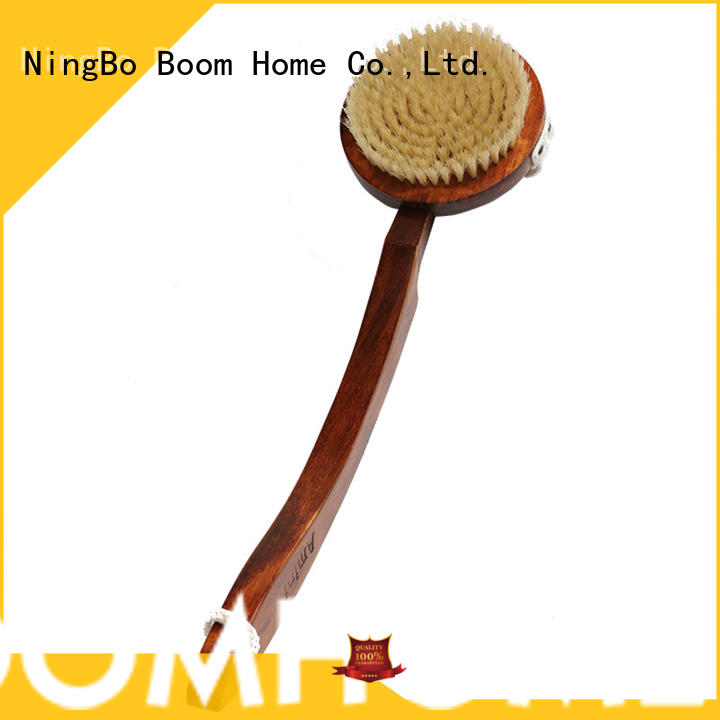 detachable wooden body brush bristle from China for shower
