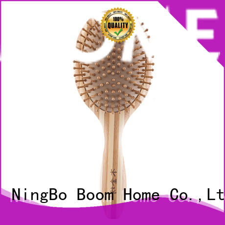 Boom Home silicone bamboo comb personalized for curly hair
